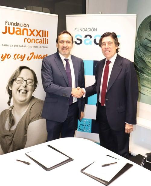 Acuerdo de colaboración entre Fundación Juan XXIII Roncalli y Sacyr